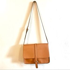 F21 brown crossbody medium bag